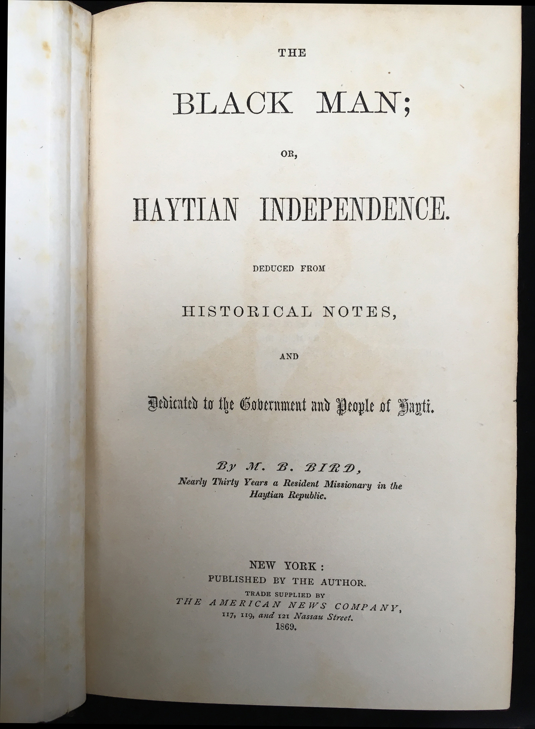 The Black Man; or, Haytian Independence