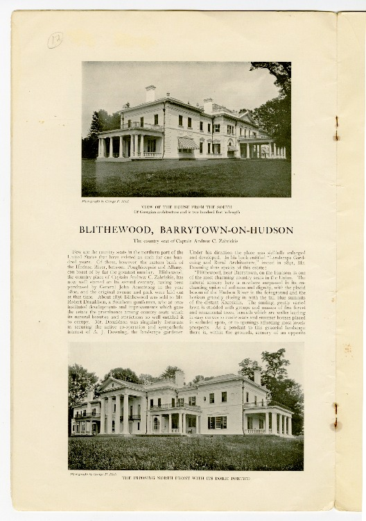 Blithewood, Barrytown-on-Hudson, p. 16 -17, Town & Country Magazine, Number 3016, March 5, 1904