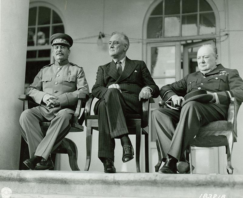 """The """"Big Three"""" at the Tehran Conference, November 29, 1943"""