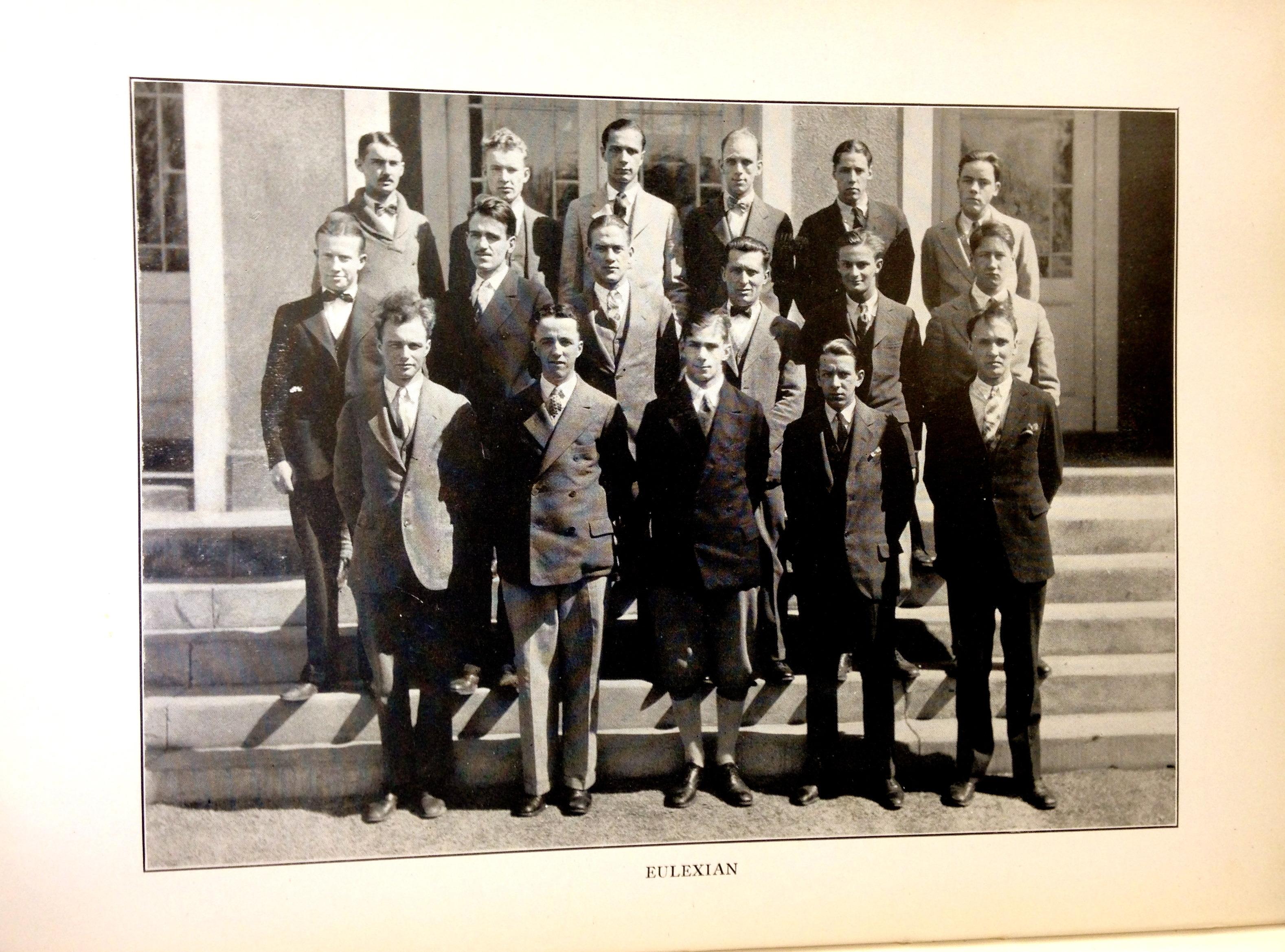 Eulexian Society Photo circa 1927