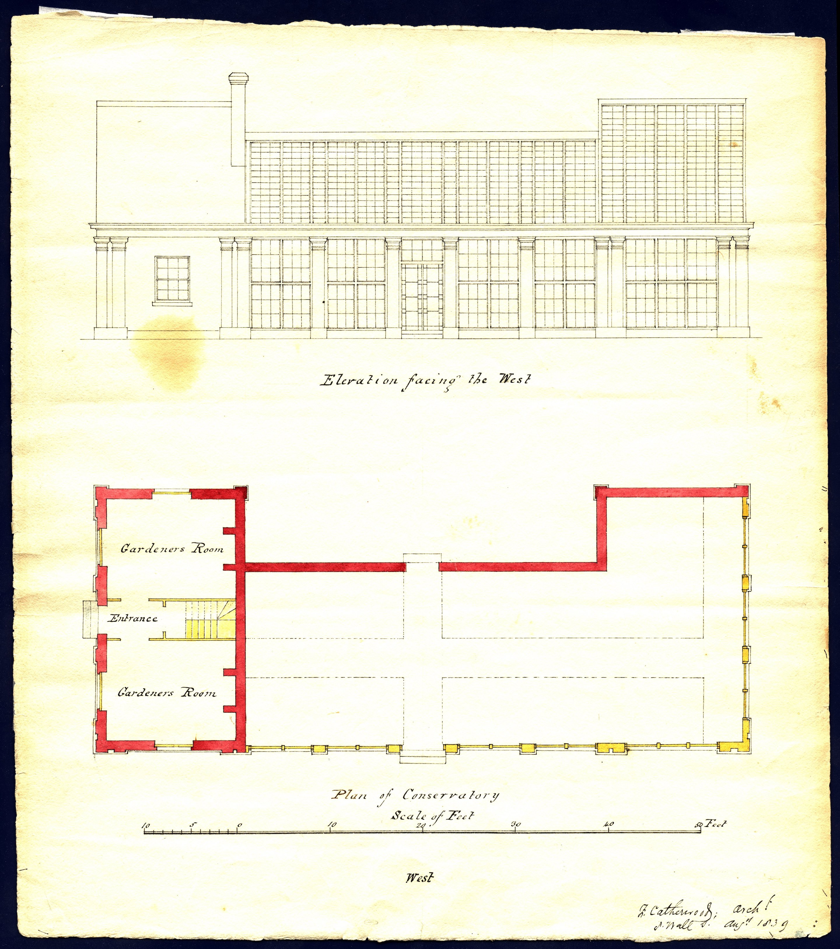 Plan of Conservatory