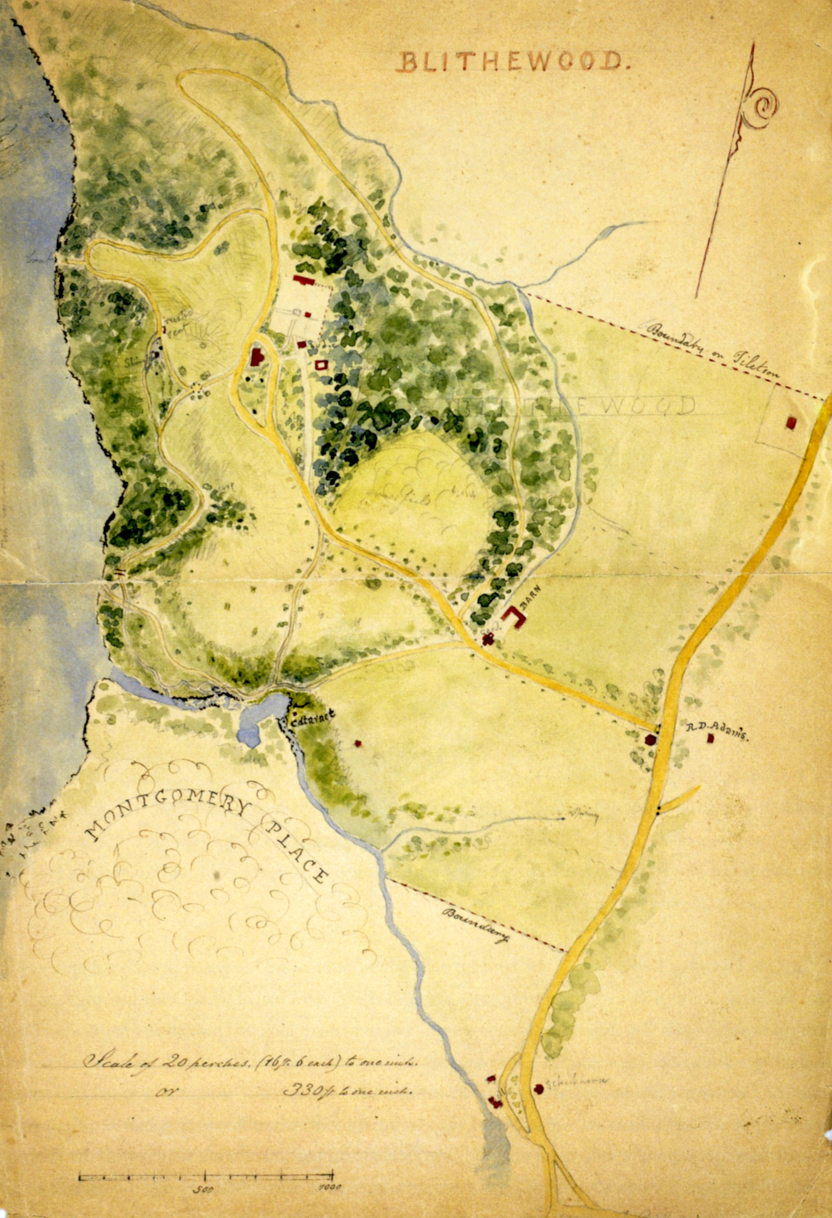 Watercolor map of Blithewood