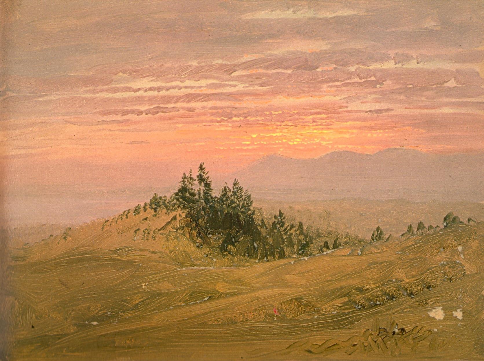 Sunset & Catskills from Church Hill, Olana