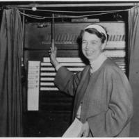 Eleanor Roosevelt Votes in Hyde Park, New York