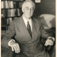 The last photograph of Franklin Roosevelt, taken in the Little White House, Warm Springs Georgia, April 12, 1945.