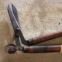 Long-handled shears with roller